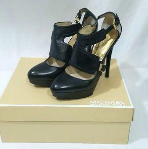 Michael Kors Toni Platform Leather Heel